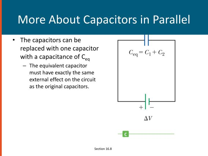 More About Capacitors in Parallel