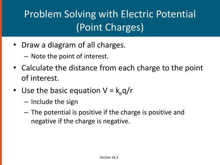 Problem Solving with Electric Potential (Point Charges)