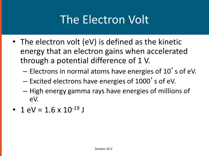 The Electron Volt