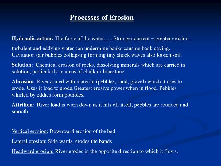 Processes of Erosion