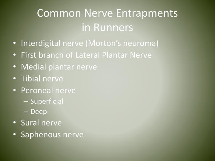 Common Nerve Entrapments