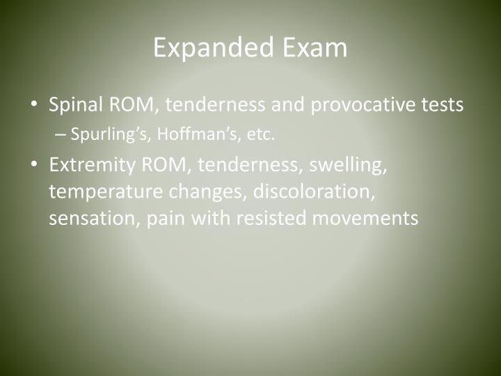 Expanded Exam