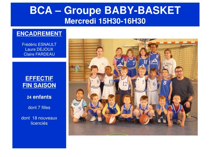 BCA – Groupe BABY-BASKET