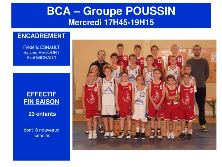 BCA – Groupe POUSSIN