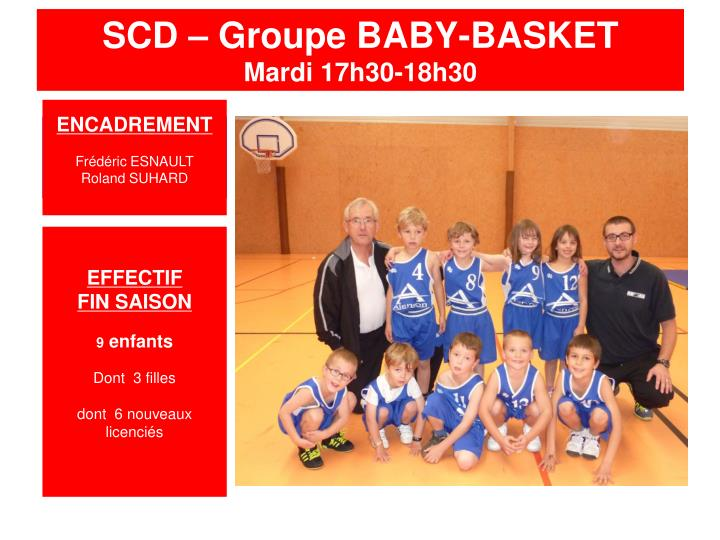 SCD – Groupe BABY-BASKET