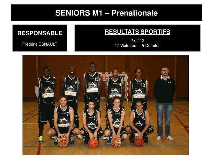SENIORS M1 – Prénationale