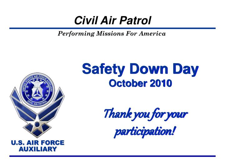 Safety down day october 2010