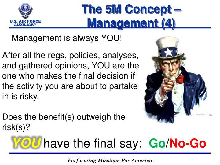 The 5M Concept – Management (4)