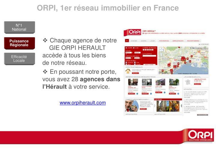 ORPI, 1er réseau immobilier en France
