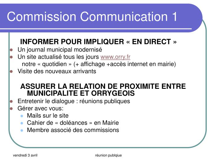Commission Communication 1