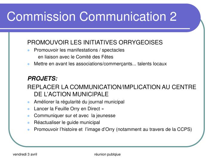 Commission Communication 2