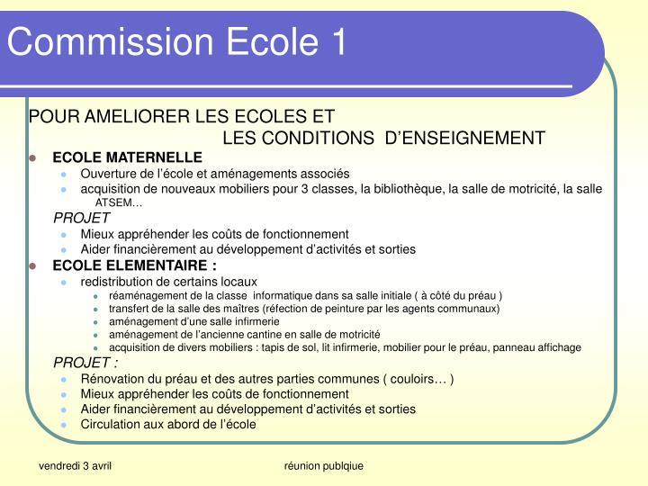 Commission Ecole 1