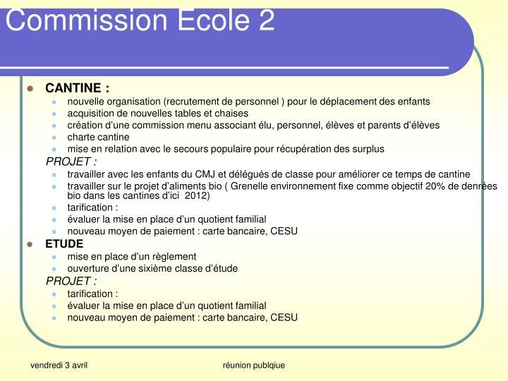 Commission Ecole 2