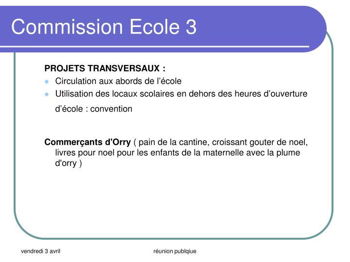 Commission Ecole 3