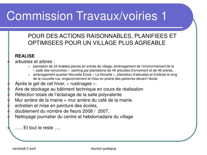 Commission Travaux/voiries 1