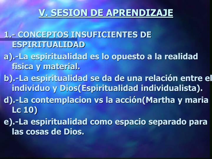 V. SESION DE APRENDIZAJE
