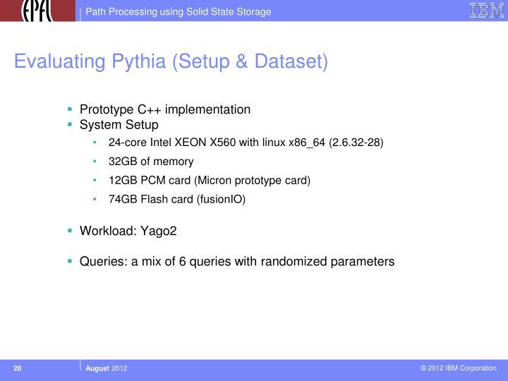 Evaluating Pythia (Setup & Dataset)
