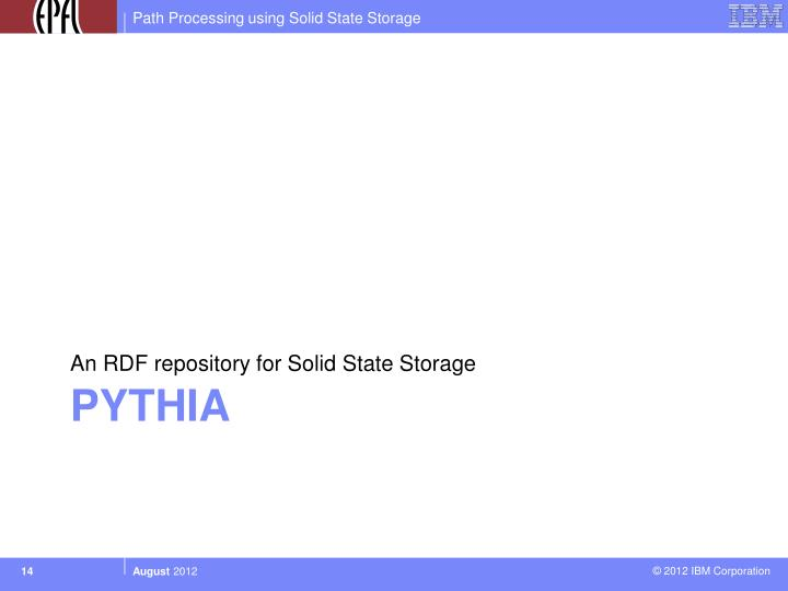 An RDF repository for Solid State Storage