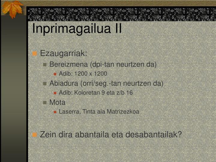 Inprimagailua II