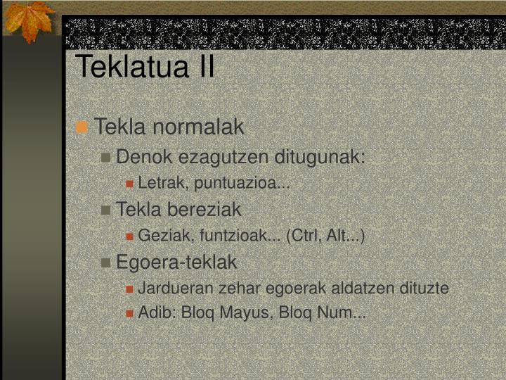 Teklatua II