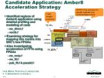 candidate application amber8 acceleration strategy