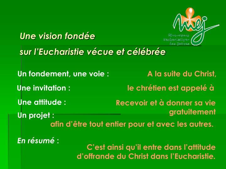 Une vision fondée