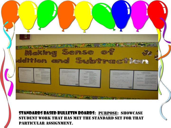 Standards Based Bulletin Boards: