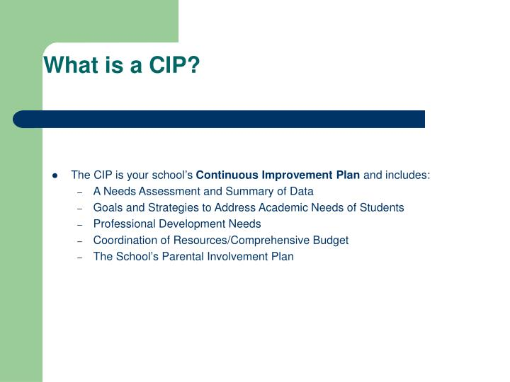 What is a CIP?