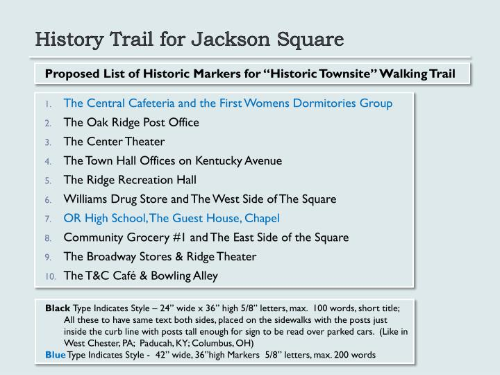History Trail for Jackson Square