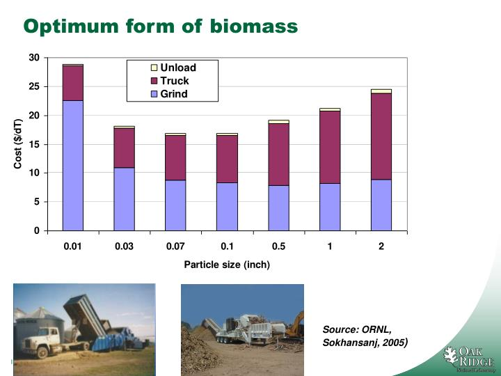 Optimum form of biomass
