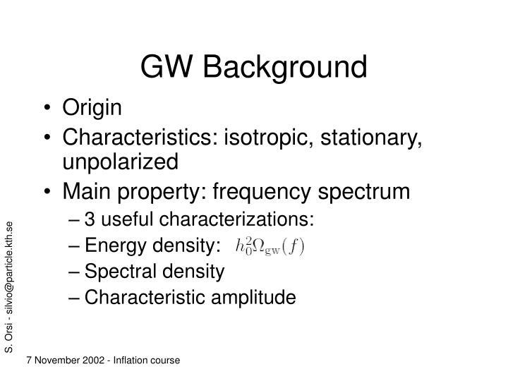 GW Background