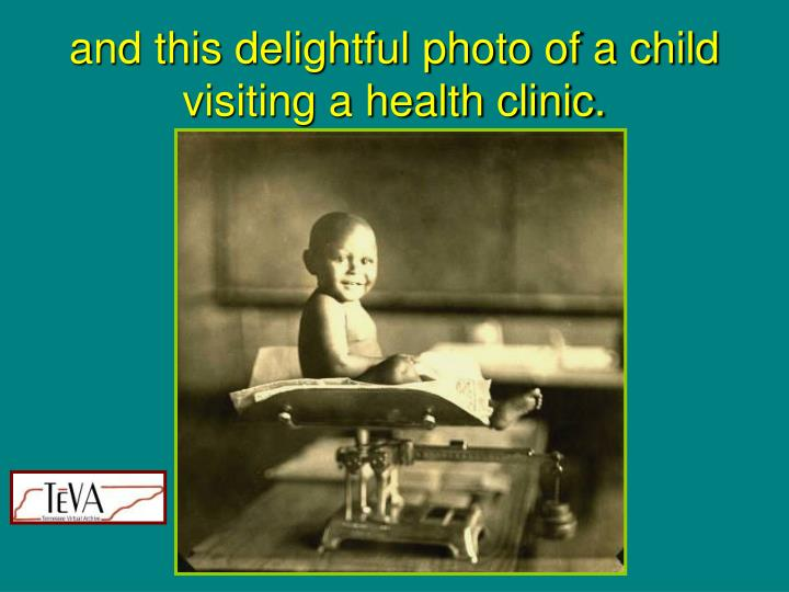 and this delightful photo of a child visiting a health clinic.