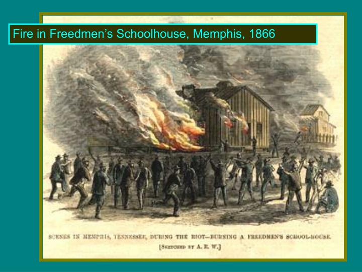 Fire in Freedmen's Schoolhouse, Memphis, 1866