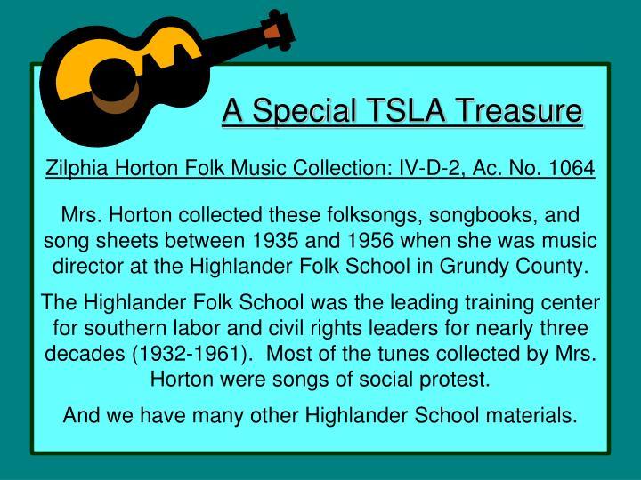 A Special TSLA Treasure