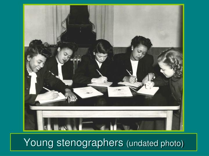 Young stenographers