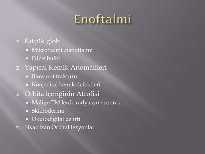 Enoftalmi