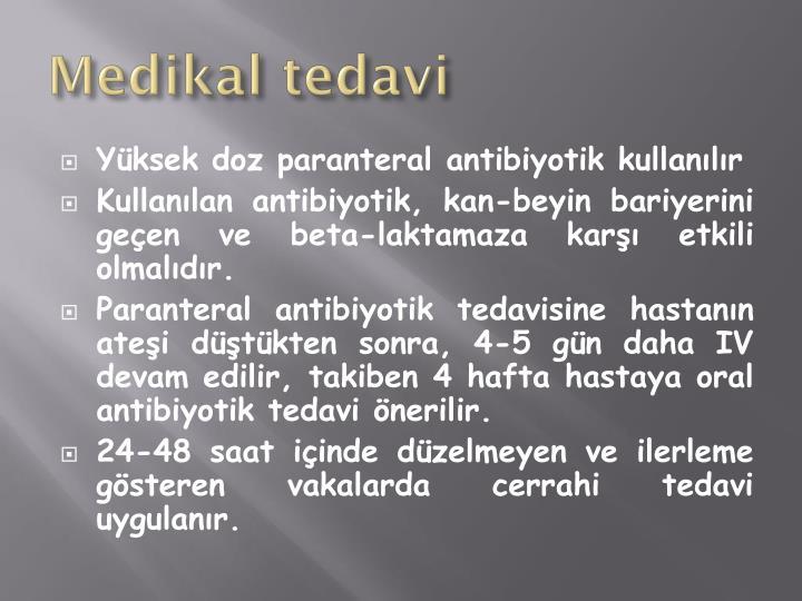 Medikal tedav