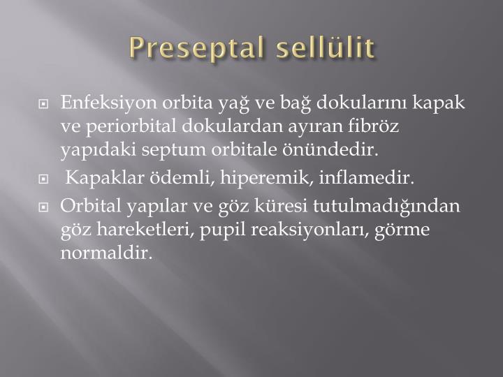 Preseptal