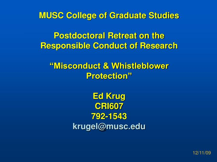 MUSC College of Graduate Studies