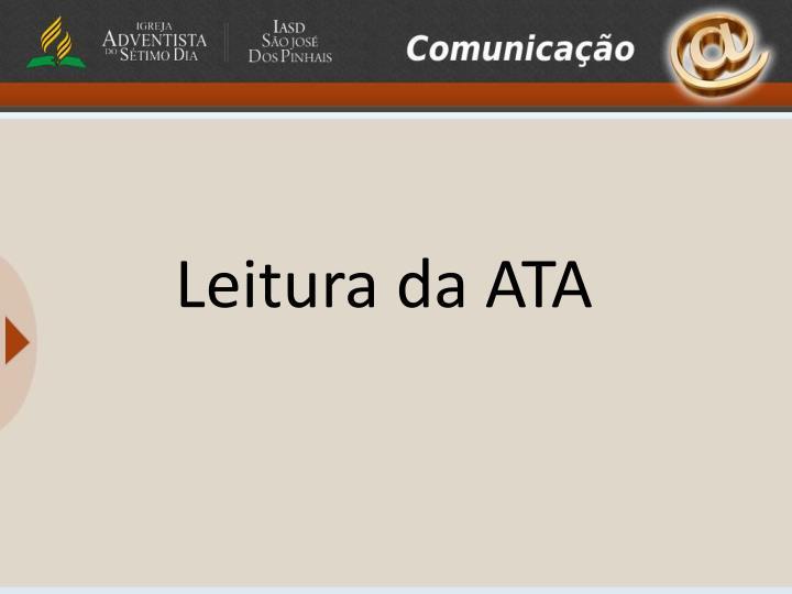 Leitura da ATA