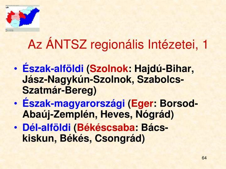 Az ÁNTSZ regionális Intézetei, 1