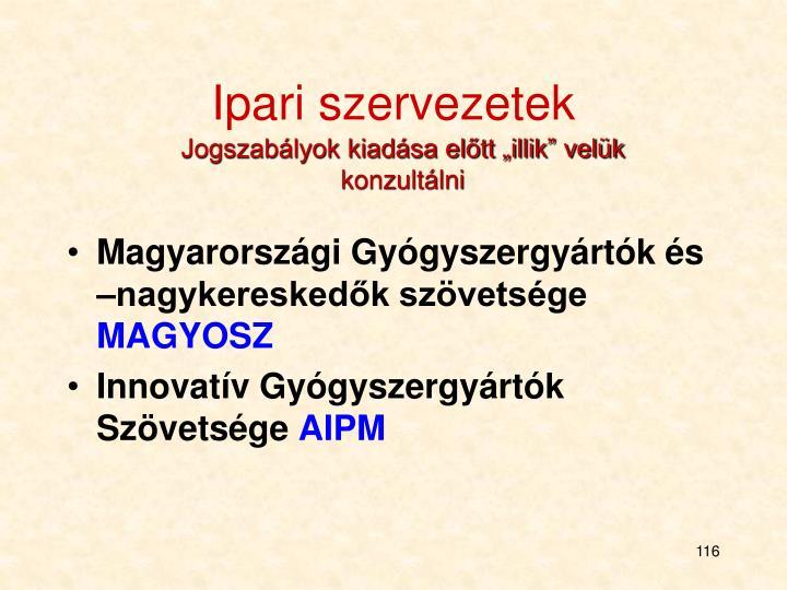 Ipari szervezetek