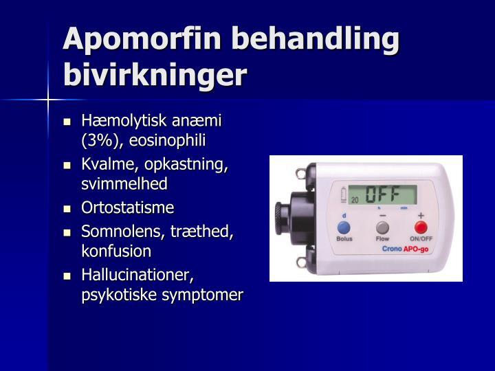 Apomorfin behandling bivirkninger