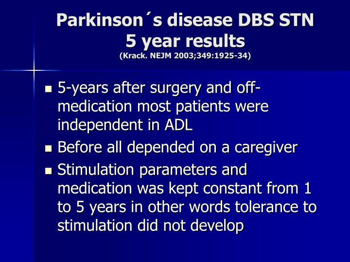 Parkinson´s disease DBS STN