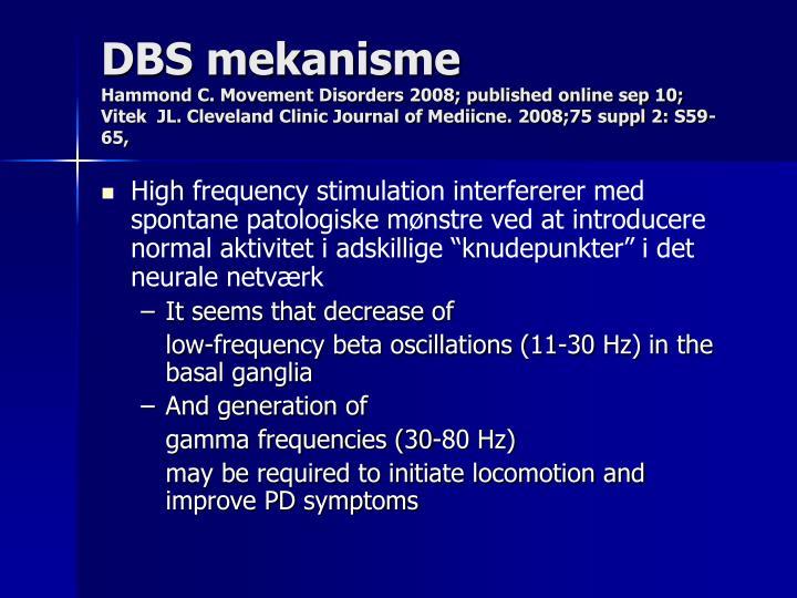 DBS mekanisme
