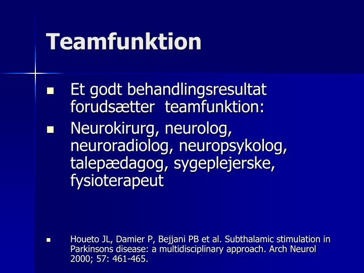 Teamfunktion