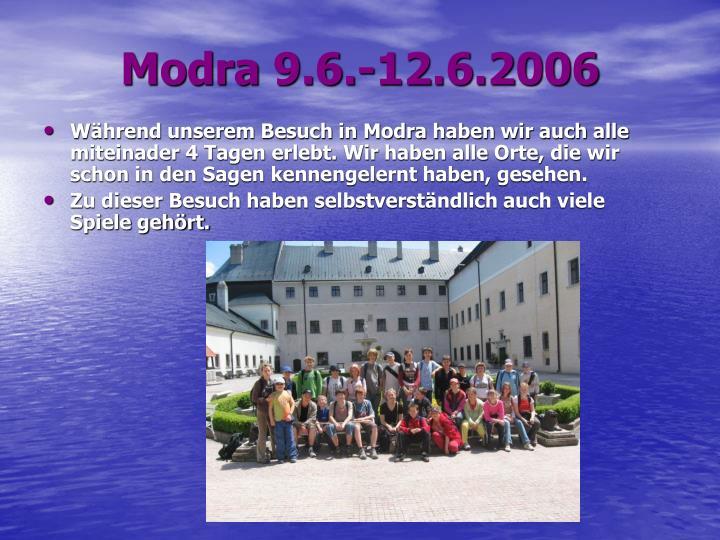 Modra 9.6.-12.6.2006