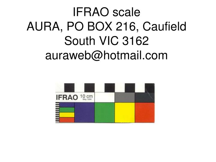 IFRAO scale