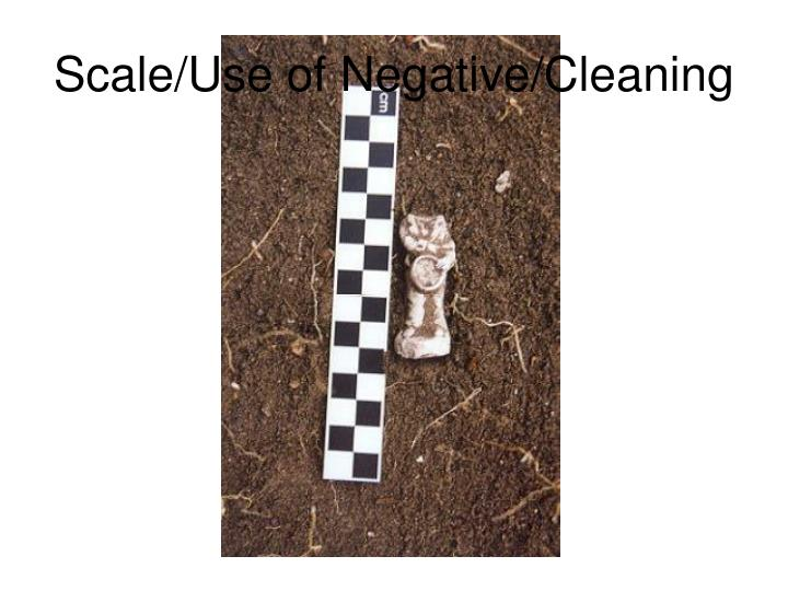 Scale/Use of Negative/Cleaning