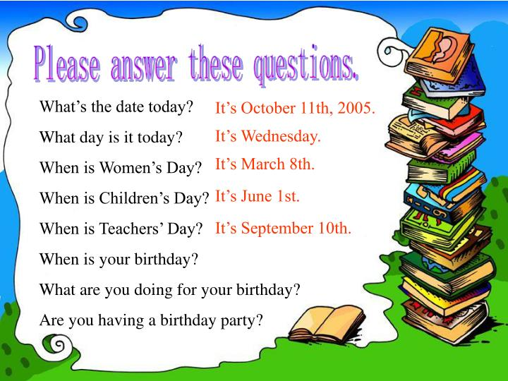 Please answer these questions.